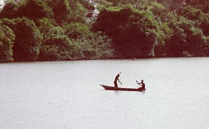 Fishermen in River
